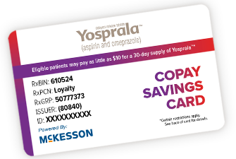 Yosprala Savings Program Card
